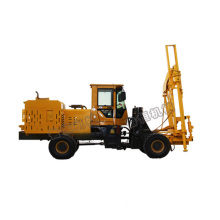 loader type hydraulic guardrail pile driver